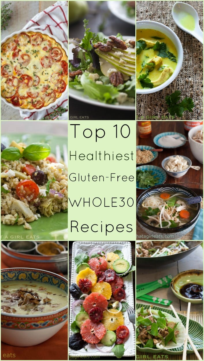 Here's a collection of the healthiest low-carb, gluten-free and Whole30 recipes for 2016. @whatagirleats.com