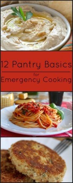 pantry basics emergency cooking.