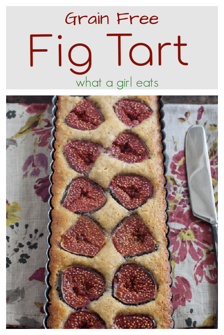 Grain free fig and walnut tart is a delicious and easy fig recipe. Fresh figs are pressed into an orange scented batter.
