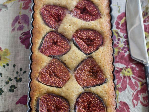 Gluten free Fig and Walnut Tart.