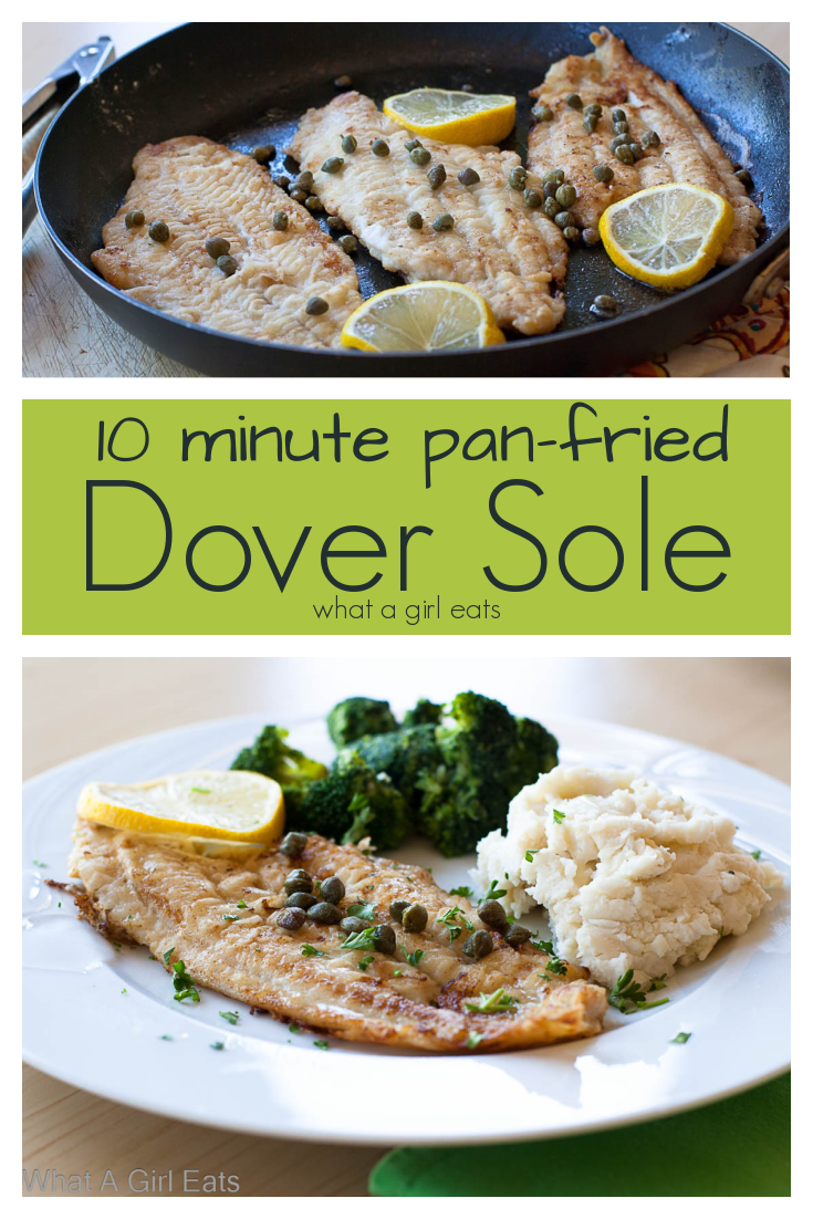 Pan-fried Dover sole is ready in under 20 minutes and is a delicious addition to an healthy meal plan.