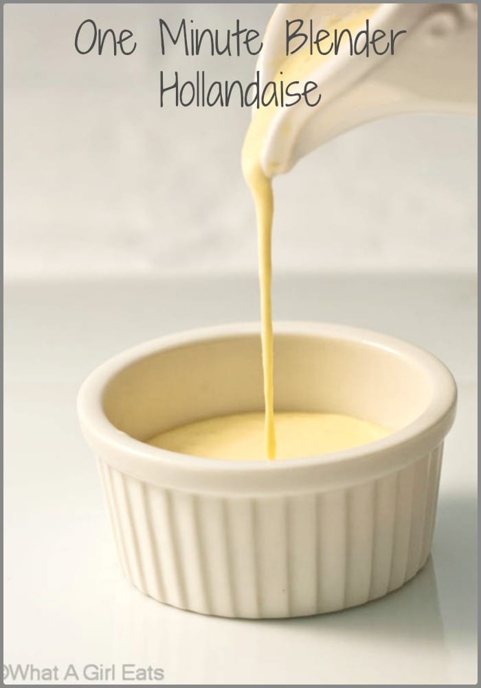 Blender hollandaise white ramekin
