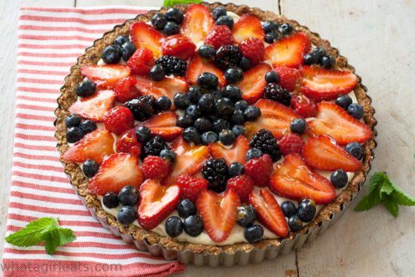 Fruit tart top shot