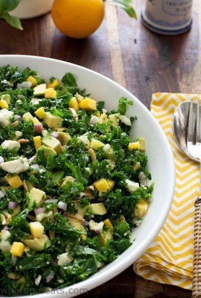 Kale and Mango Salad with Feta