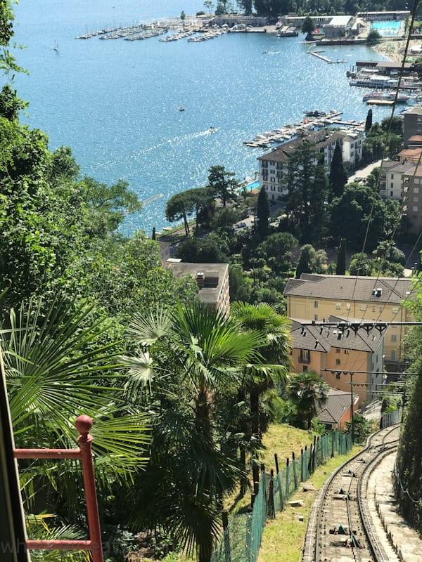 Funicular ride to Monte Brè.