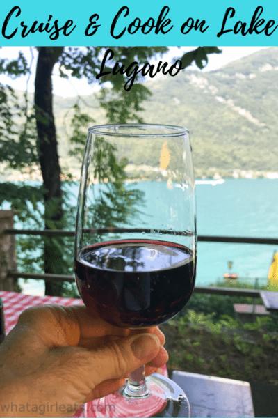 Lake lugano red wine