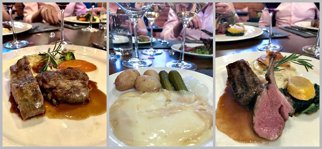 Zermatt Schaferstube restaurant collage