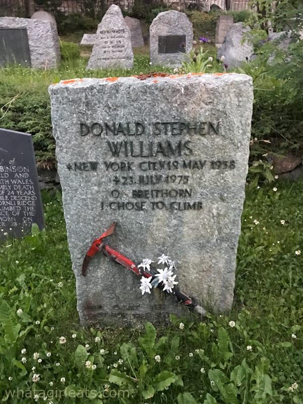Mountaineering gravestone zermatt