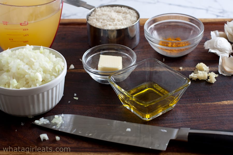 ingredients for rice pilaf