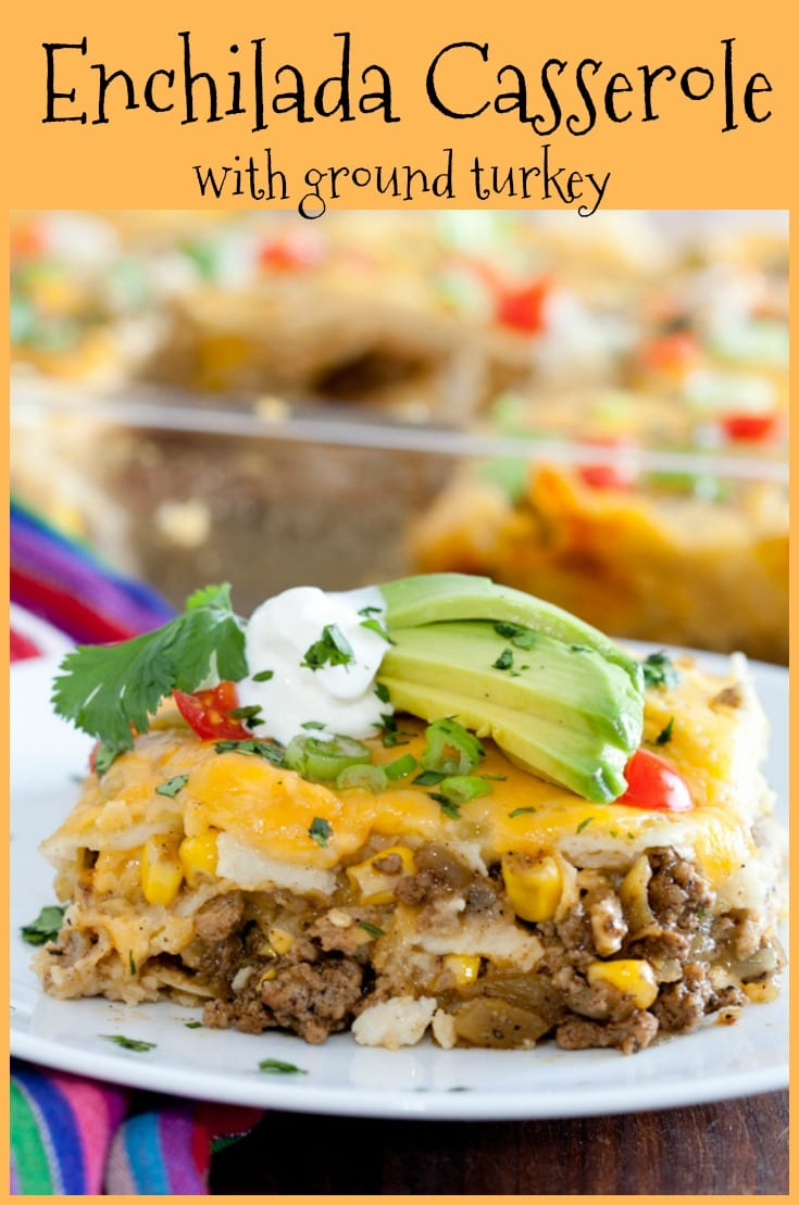 Enchilada Casserole is a delicious and easy budget friendly dish your family with love! #budgetdish #groundmeatrecipes #familyfriendly #cheesy #enchiladacasserole #glutenfreemexican #mexicanrecipe
