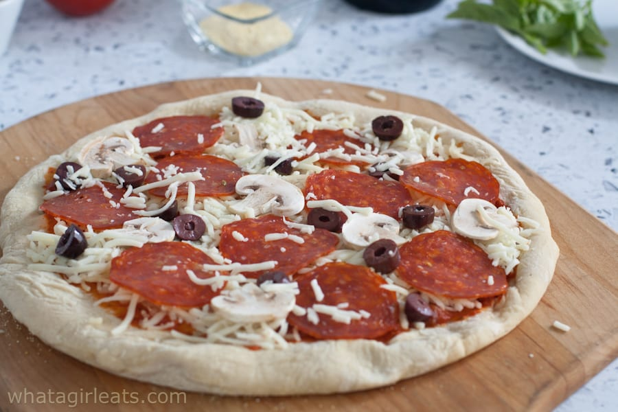 Pizza with toppings