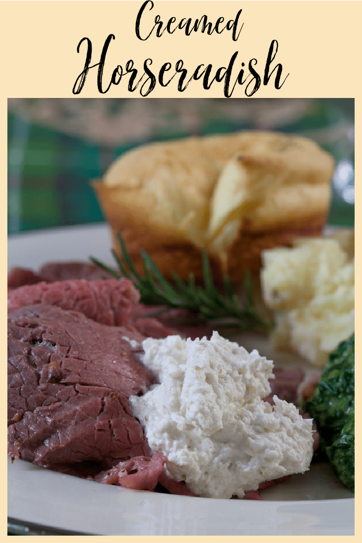 This creamed horseradish sauce is a delicious accompaniment to prime rib.