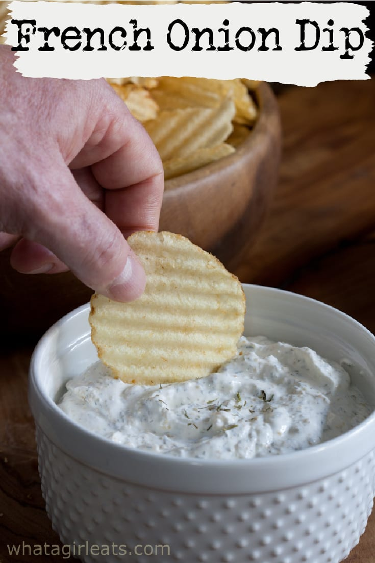 This French Onion dip recipe will remind you of the one you grew up with in the 60s and 70s. Perfect with chips or veggies.