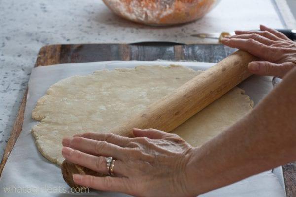 rolling pie dough