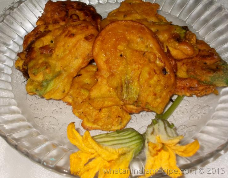 Pumpkin Flower Pakora Recipe
