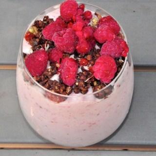 liquid lunch – raspberry and banana parfait
