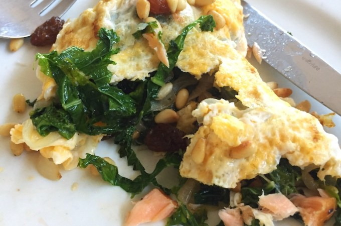 hot smoked salmon omelette