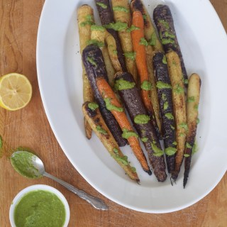 Charred Heirloom Carrots + Basil Vinaigrette