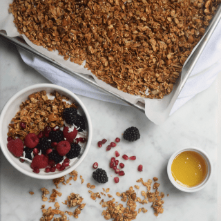 Homemade Maple + Coconut Granola