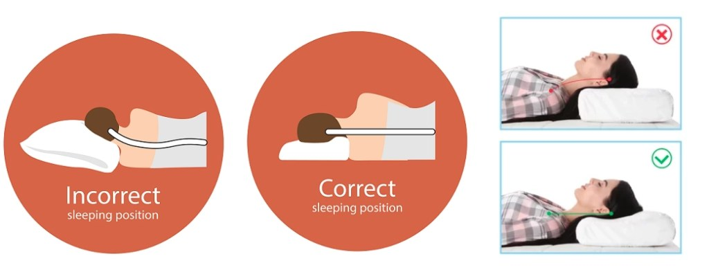 Correct sleep posture to avoid neck pain