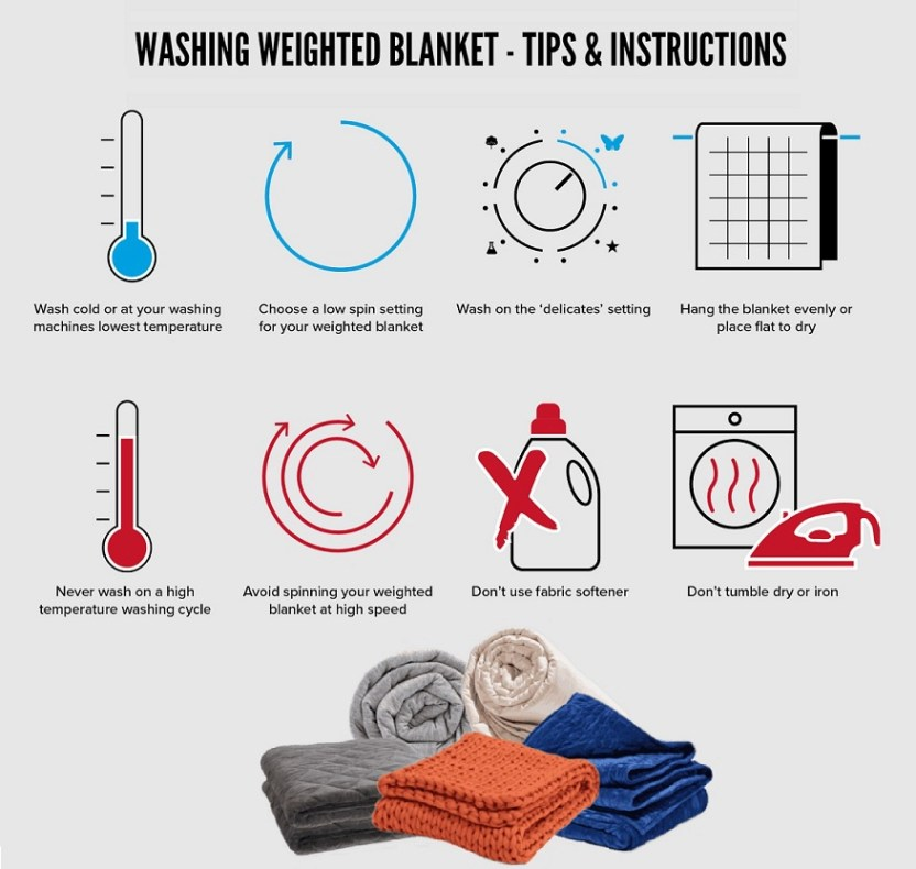 washing weighted blankets