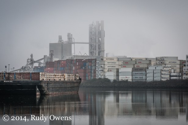 This photograph of the lower Duwamish, in the Port of Seattle, was taken in January 2014.