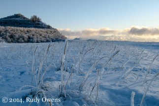It was about 10 degrees below 0 (fahrenheit) when I snapped this picture at Kincaid Park's beach, in January 2010.