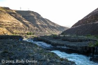 The Deschutes River smashes through a fishing ground managed by the Warm Springs Indian Reservation (2014).