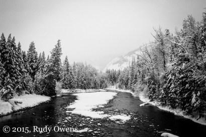 Methow River Winter Photo