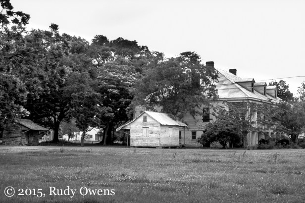 Slave Cabin and Plantation Photo