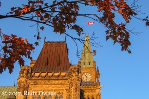 What photo of Canada would be complete without the flag and maple leaves, in fall, eh?