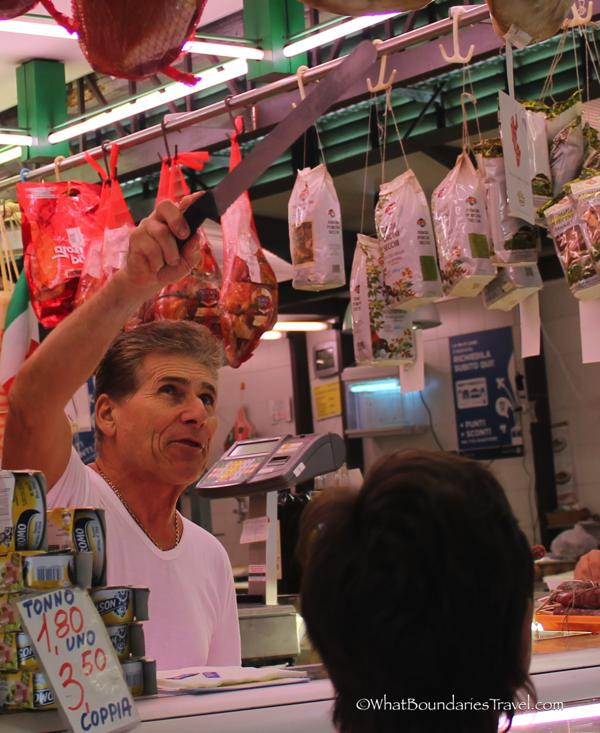 Mario the Butcher at the Market