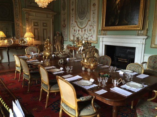 One of many period decorated rooms in the Inveraray Castle