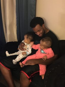 with their Dad