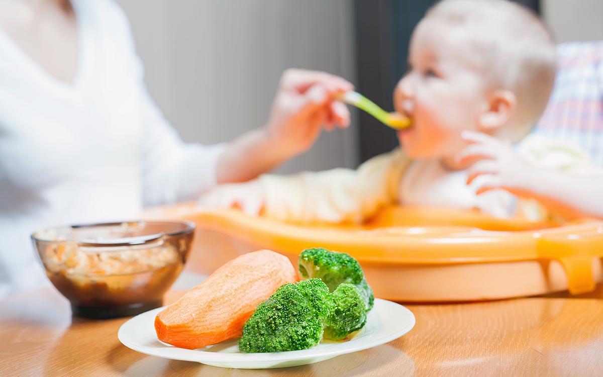 veg with baby