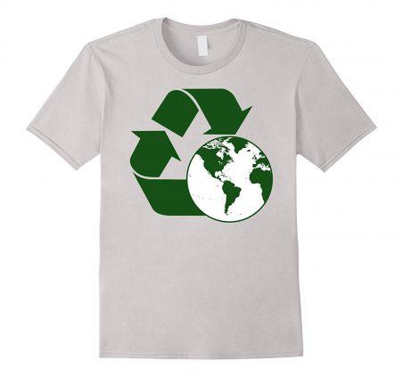 81Obk4HMYFL. UL1500  - Men's Recycle Symbol Shirt Global Warming Environmentalist Tee Large Silver