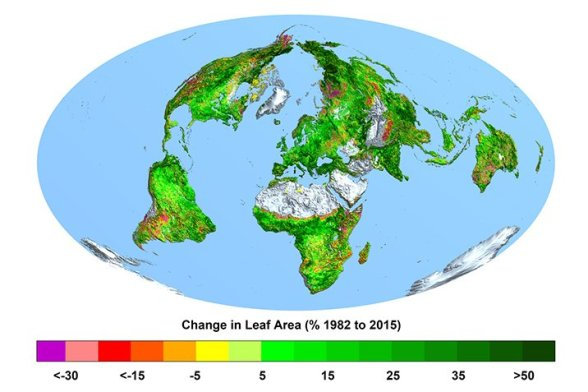 alarmists red faced as satellite image analyses show globe has greened markedly over past 4 decades 1 - Alarmists Red-Faced As Satellite Image Analyses Show Globe Has Greened Markedly Over Past 4 Decades