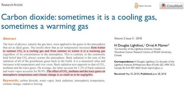 scientists co2 causes cooling when not causing warming and its a weak to negligible climate factor 1 - Scientists: CO2 Causes Cooling When Not Causing Warming And It's A 'Weak' To 'Negligible' Climate Factor