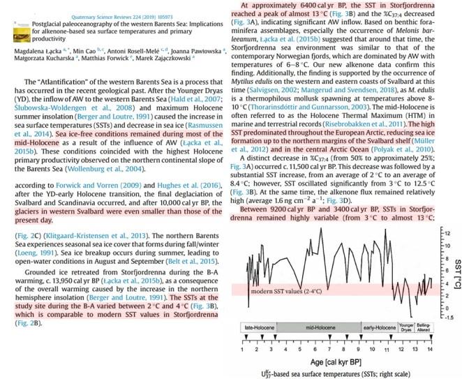 warmth demanding species glacier melt measurements affirm early holocene svalbard was 7c warmer than now 3 - Warmth-Demanding Species, Glacier Melt Measurements Affirm Early Holocene Svalbard Was 7°C Warmer Than Now
