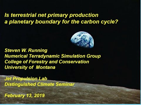 is terrestrial net primary production a planetary boundary for the carbon cycle - Is terrestrial net primary production a planetary boundary for the carbon cycle?