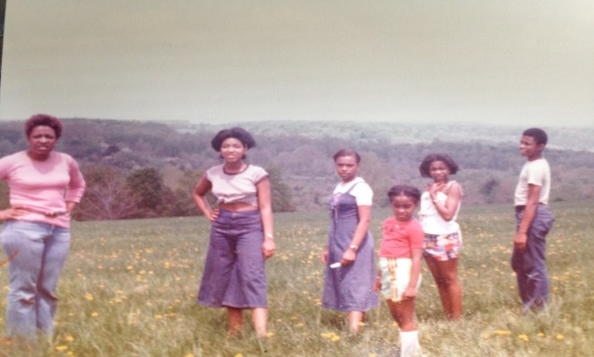 Angelou Ezeilo with her family at their property in upstate New York.