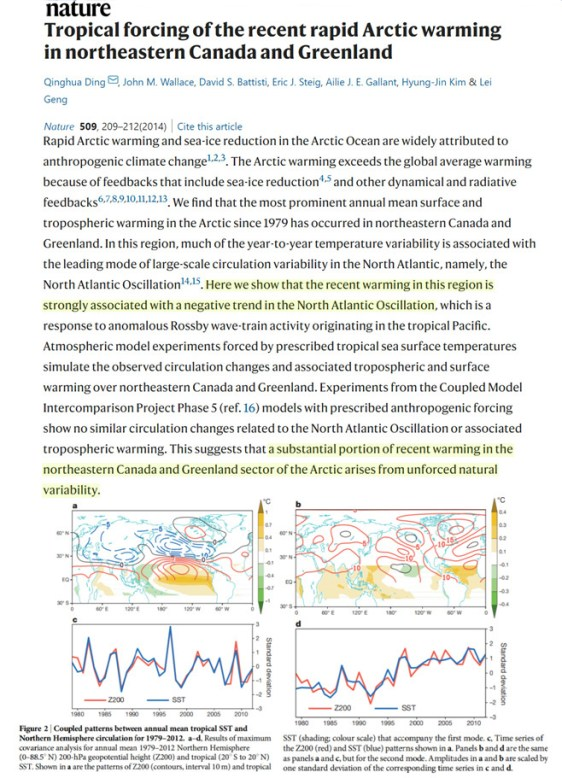 new study 75 of recent arctic sea ice decline is accounted for by an internal variability pattern pna 1 - New Study: 75% Of Recent Arctic Sea Ice Decline Is 'Accounted For' By An Internal Variability Pattern (PNA)
