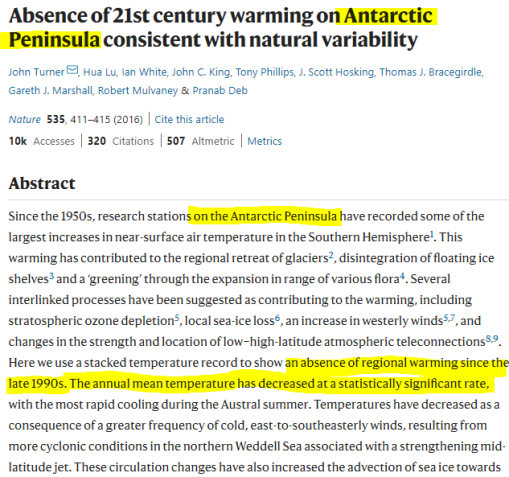 body of evidence all of antarctica is cooling peninsula cooling since long before greta was born 3 - Body Of Evidence: All Of Antarctica Is Cooling… Peninsula Cooling Since Long Before Greta Was Born