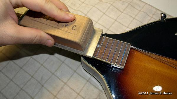 Leveling Mandolin Frets With A Leveling File