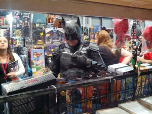 batman in booth