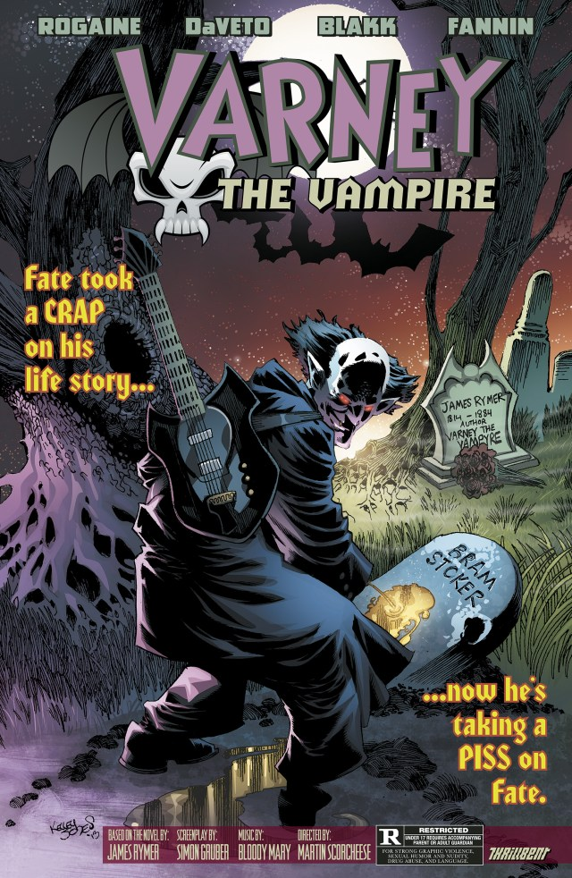 Varney the Vampire CGC Lobby Card Kelley Jones