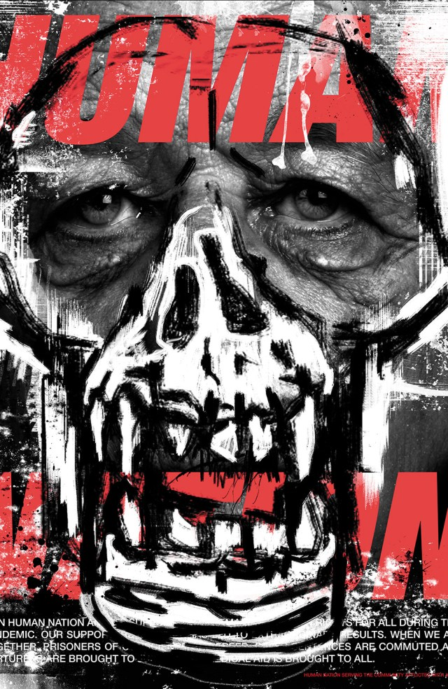 """DAWN OF THE PLANET OF THE APES #2 """"Human Nation"""" Graffiti Design Retailer Incentive Cover (1:15)"""