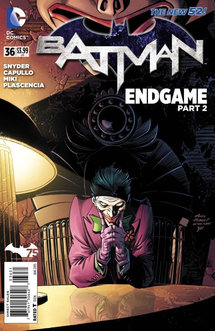 Threat Level: WEDNESDAY! - Batman #36 Bats vs. Jokerized Supes. Nuff Said!
