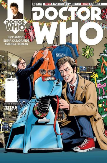 Christmas Triptych Variant Available From Titan's Doctor Who Series