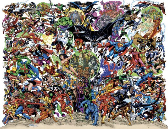Resultado de imagen para comic  DC vs marvel universe